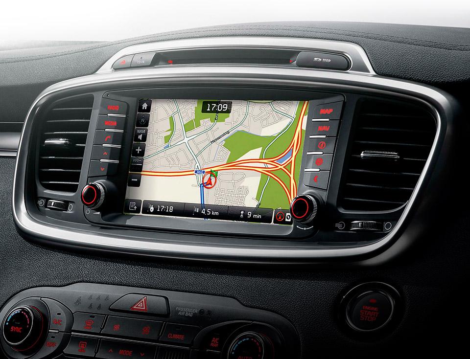 """Navigație cu Display 8"""", Radio + Media + SD Navi +RDS + Rear view cam + DAB"""
